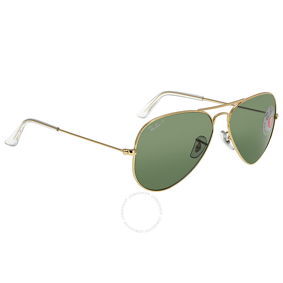 9d7bc79143 ... Ray Ban Aviator Green Polarized Lens 58mm Sunglasses RB3025-001 58-58  ...