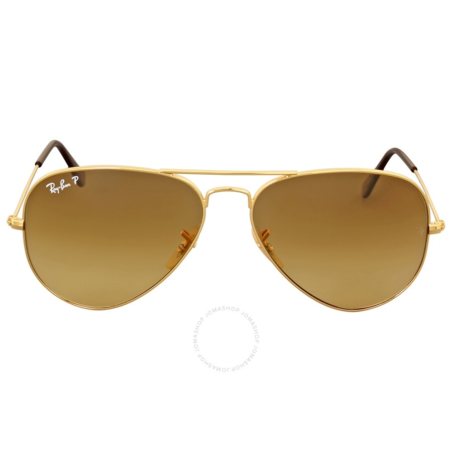 9e58ab36bbac5 Ray Ban Aviator Gradient Light Brown Gradient Sunglasses RB3025 001 M2 58  ...