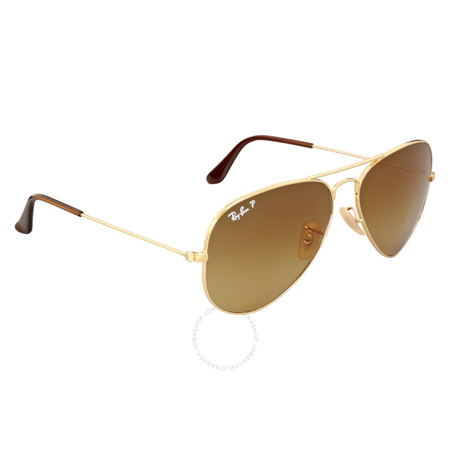 d49fac1d93dee ... Ray Ban Aviator Gradient Light Brown Gradient Sunglasses RB3025 001 M2  58 ...