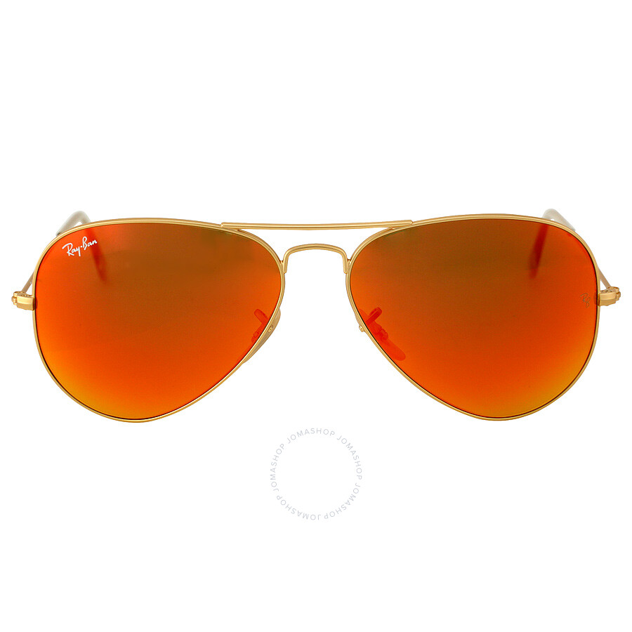 a062a9eb8f3 Ray-Ban Aviator 58mm Orange Flash Sunglasses - Aviator - Ray-Ban ...