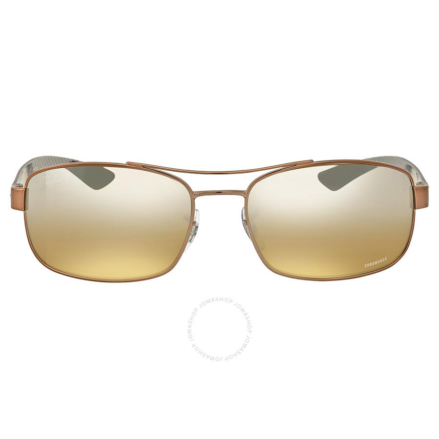 053a265921c Ray-Ban Polarized Brown Mirror Rectangular Sunglasses - Ray-Ban ...