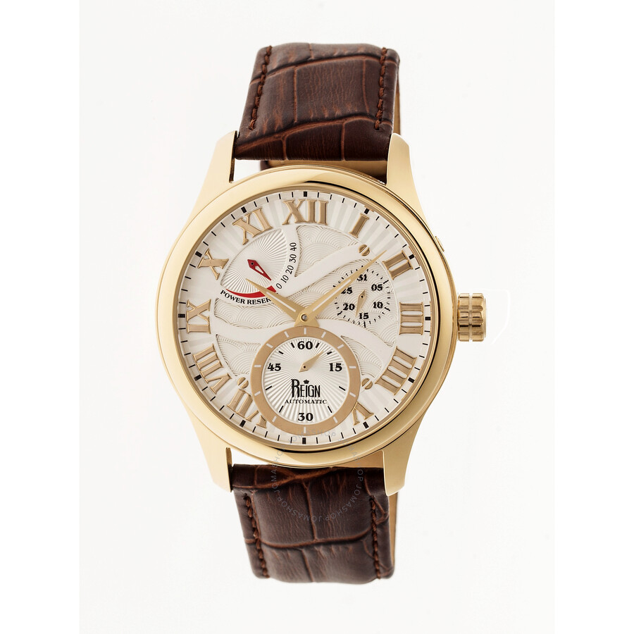 Reign bhutan automatic white engraved dial men 39 s watch rn1605 reign watches jomashop for Watches engraved