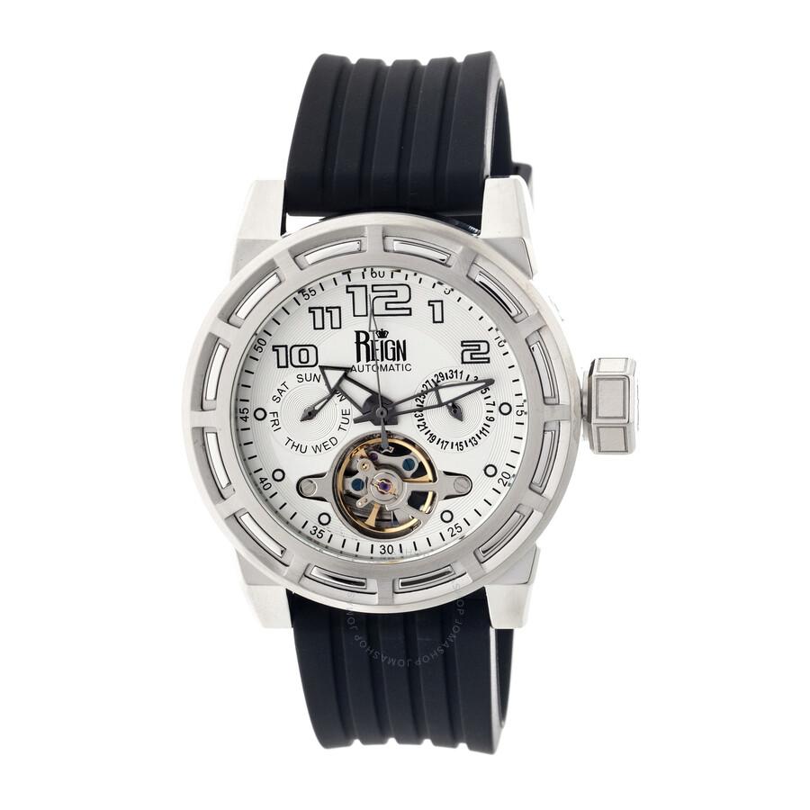 b8a55c496e3d Reign Rothschild Stainless Steel Case White Semi-Skeleton Dial Men s Watch  RN1301 ...