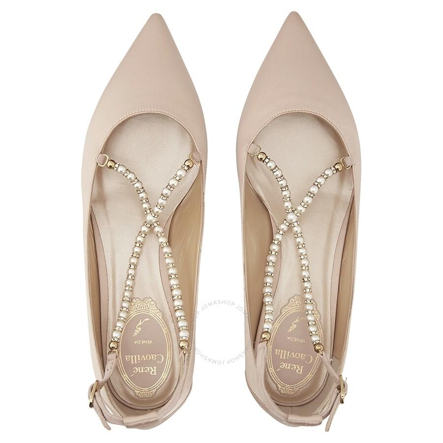 524997973267 Rene Caovilla Eliza Satin Beige Flat - Shoes - Fashion   Apparel ...