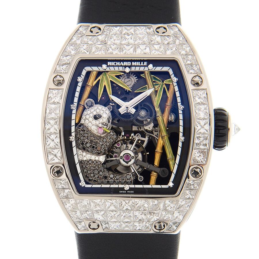 Richard Mille Diamond Tourbillon Panda Men's Watch RM26-01 RM26-01 -  Watches, Richard Mille - Jomashop