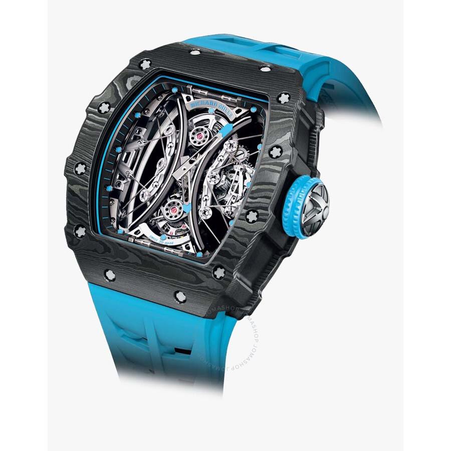 01 >> Richard Mille Tourbillon Pablo Mac Donough Black Dial Watch Rm 53 01