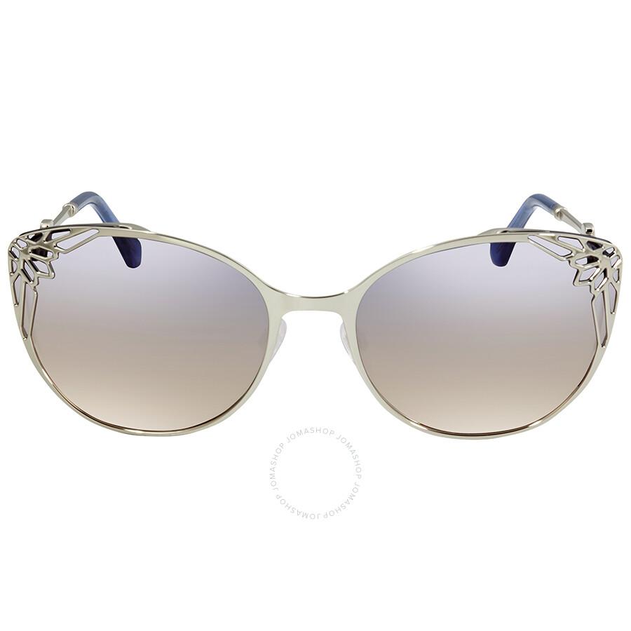 6c77bc45166e0 ... Roberto Cavalli Blue Mirror Cat Eye Sunglasses RC1033 16X 63 ...