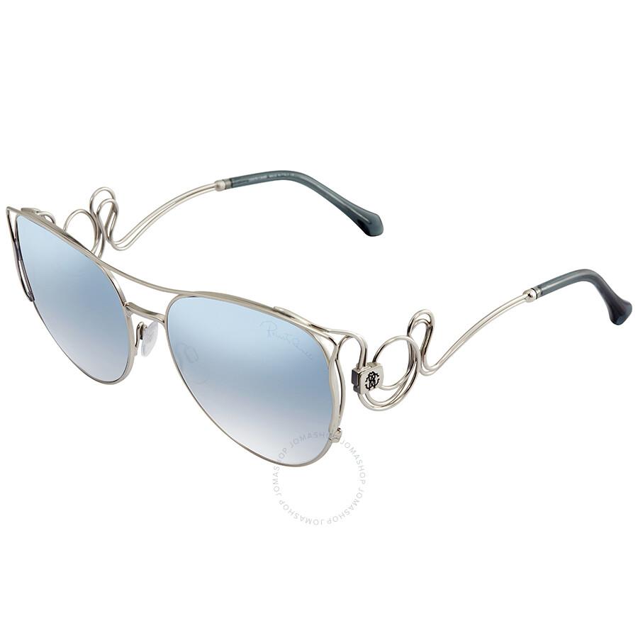 ac8009b81 Roberto Cavalli Blue Mirror Gradient Aviator Sunglasses RC1026 18X 61 Item  No. RC1026 18X 61