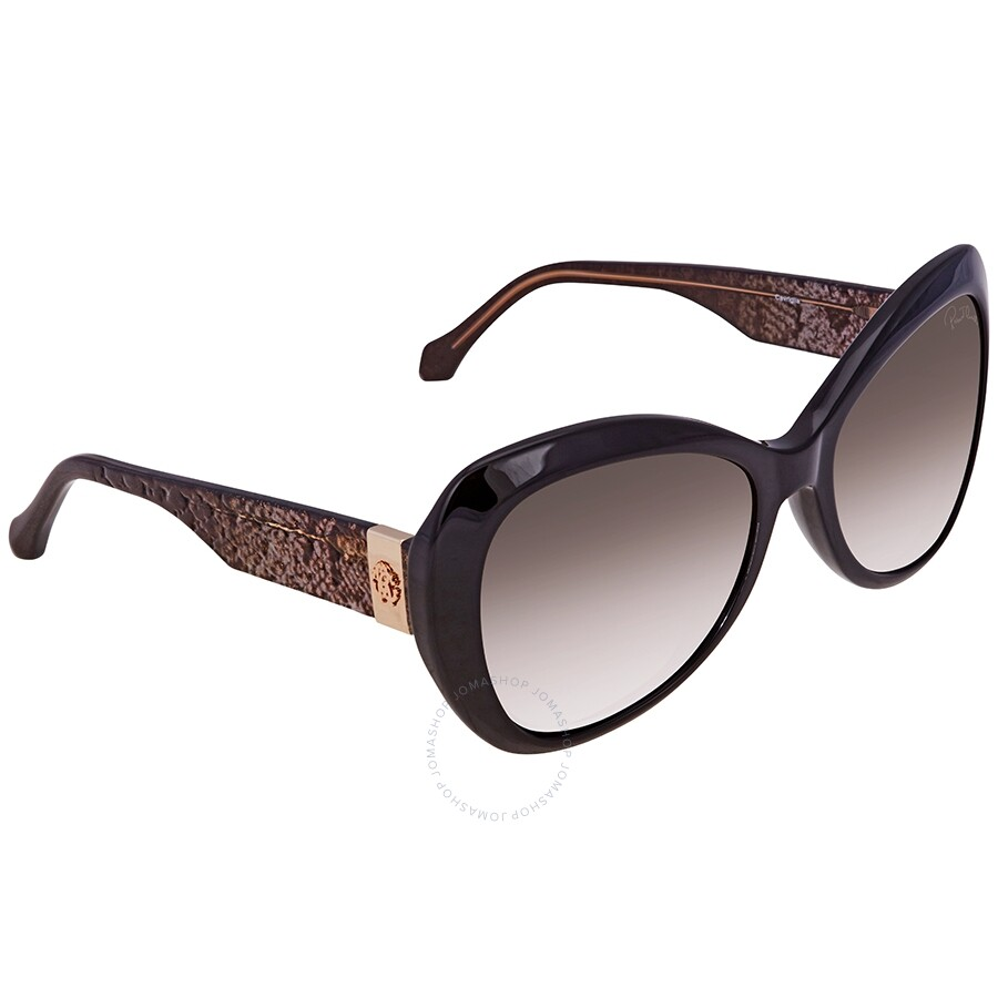 Roberto Cavalli Gradient Smoke Oval Sunglasses RC1040 01B 56 ... 2fe4937216