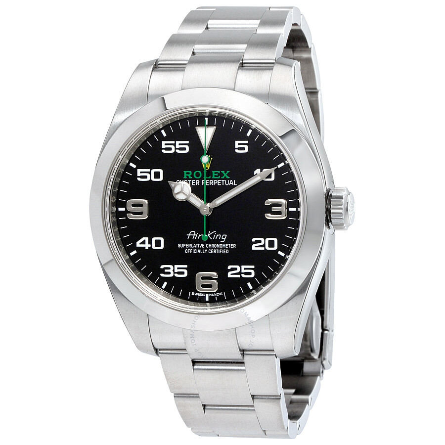 Rolex air king black dial stainless steel men 39 s watch 116900bkao air king rolex watches for Rolex air king