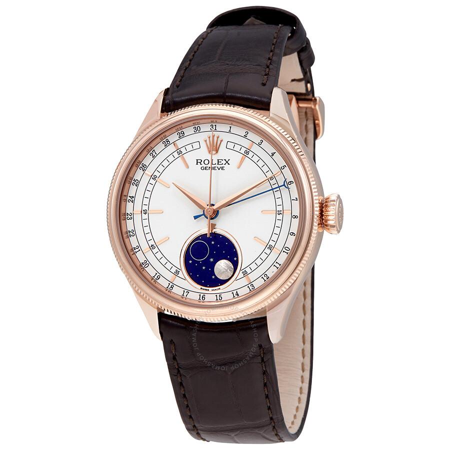 Rolex Cellini Automatic Moonphase 18kt Everose Gold Men\u0027s Watch 50535WSBRL