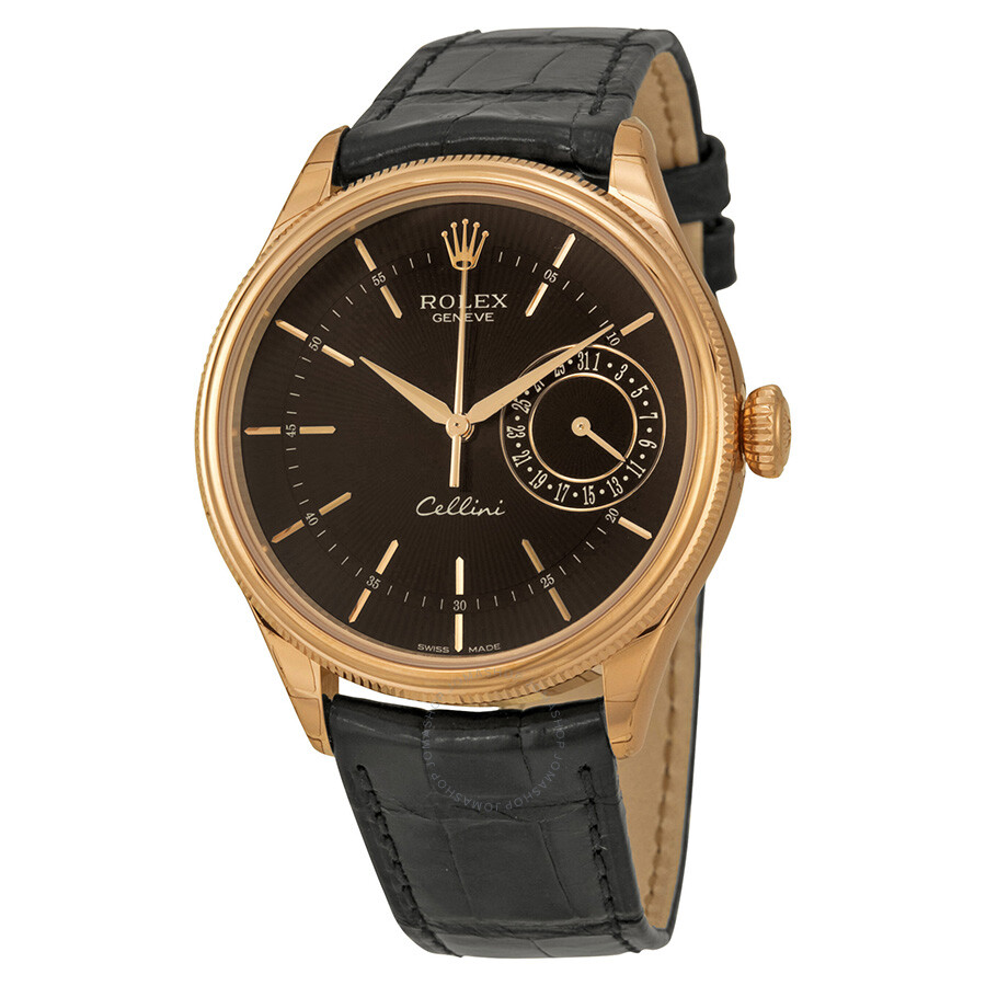 Rolex cellini date black dial 18kt everose gold men 39 s watch 50515bksbkl cellini rolex for Rolex cellini