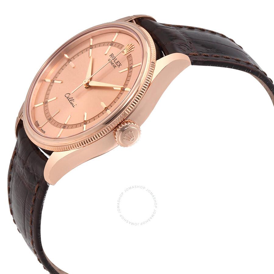 Cellini Diamond: Rolex Cellini Pink Dial Diamond 18K Everose Gold Men's
