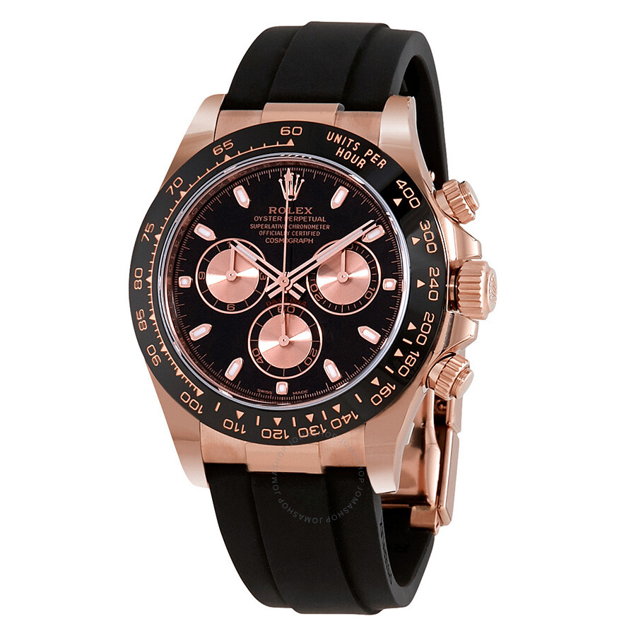 d9e770bede9 Rolex Cosmograph Daytona Black and Pink Dial Automatic Men s Oysterflex  Watch 116515BKPSR ...