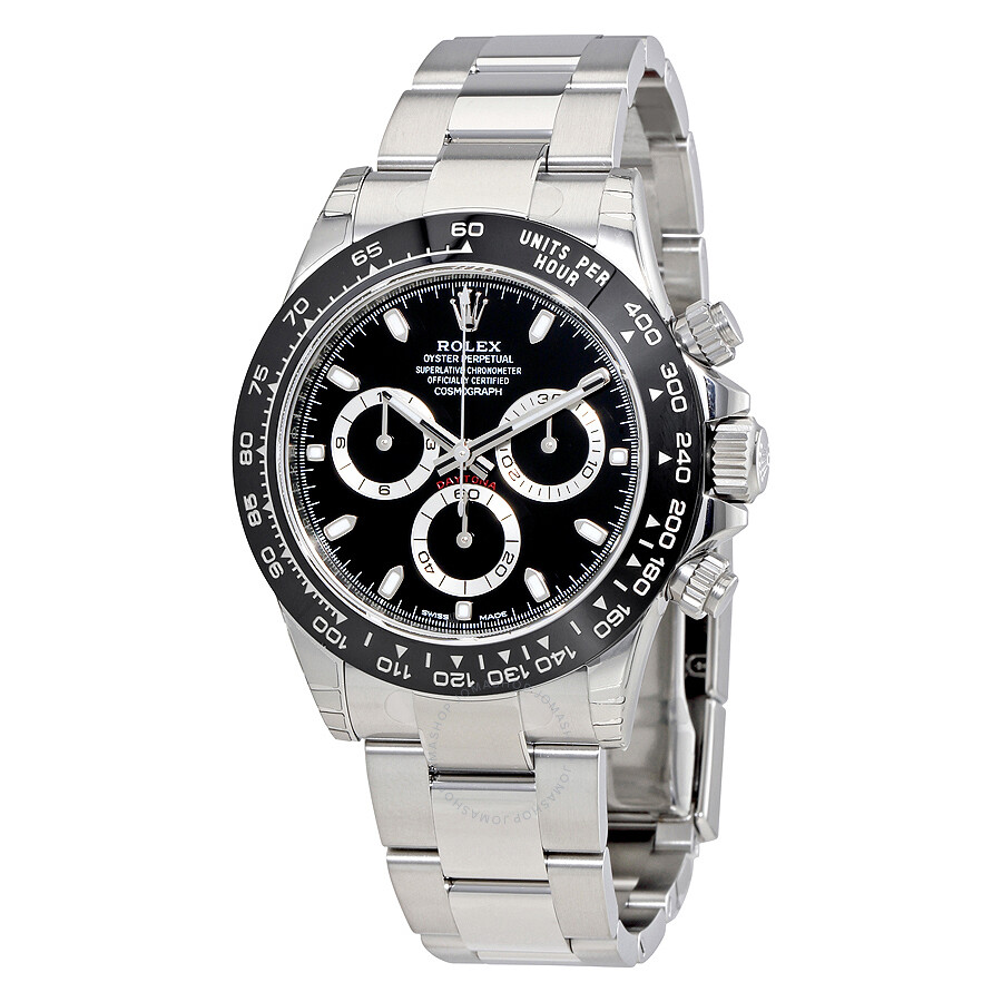 Rolex cosmograph daytona black dial stainless steel oyster men 39 s watch 116500bkso cosmograph for Rolex watch