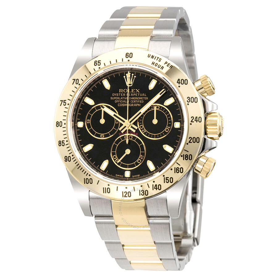 2493586cc4d Rolex Cosmograph Daytona Black Dial Stainless steel and 18K Yellow Gold Oyster  Bracelet Automatic Men's Watch ...
