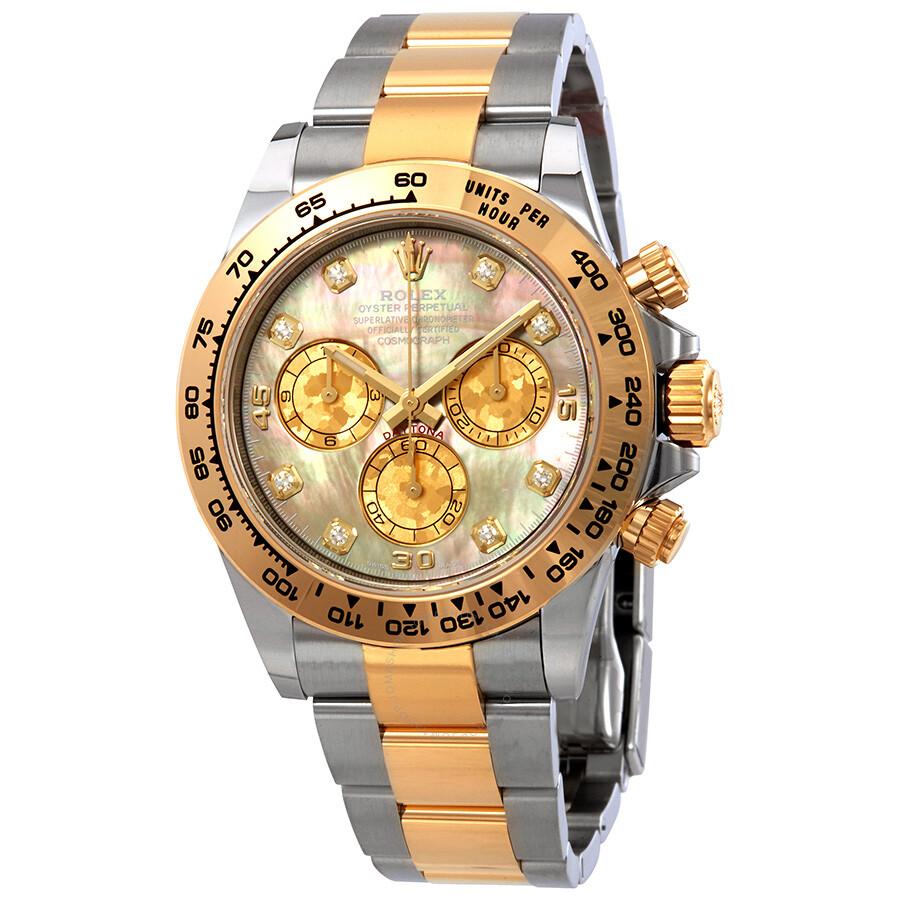 Rolex Cosmograph Daytona Black Mother Of Pearl Diamond Dial Men S Watch 116503bkmdo