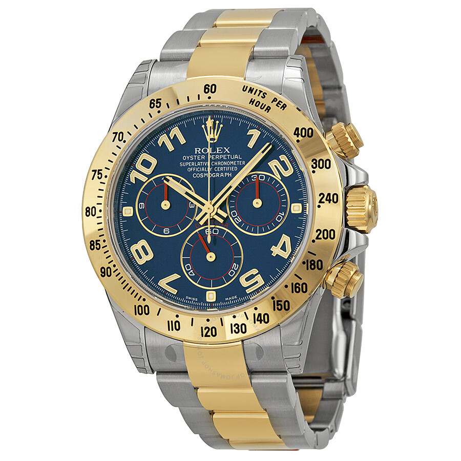 Rolex Cosmograph Daytona Blue Dial Stainless steel and 18K Yellow Gold  Oyster Bracelet Automatic Men s Watch ... e6cc76cef75