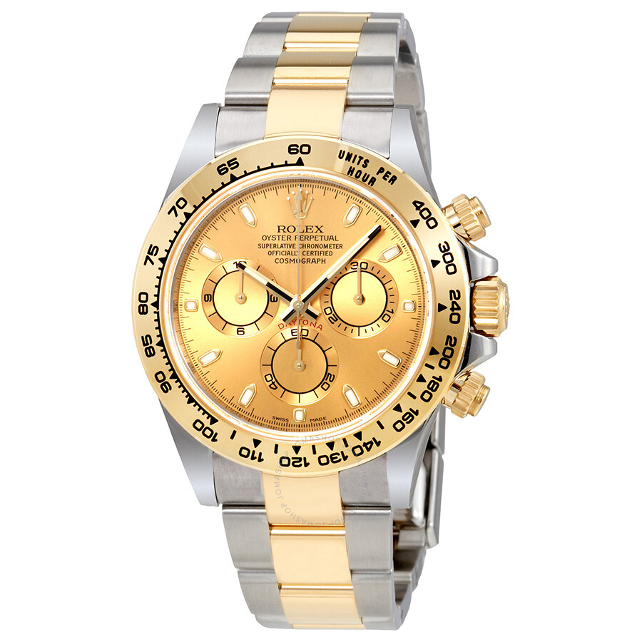 Rolex Cosmograph Daytona Champagne Dial Steel And 18k Yellow Gold