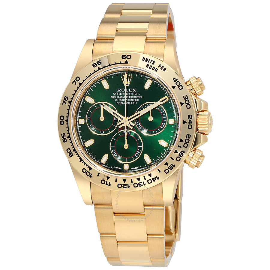Rolex Cosmograph Daytona Green Dial 18K Yellow Gold Oyster Men\u0027s Watch  116508GRSO
