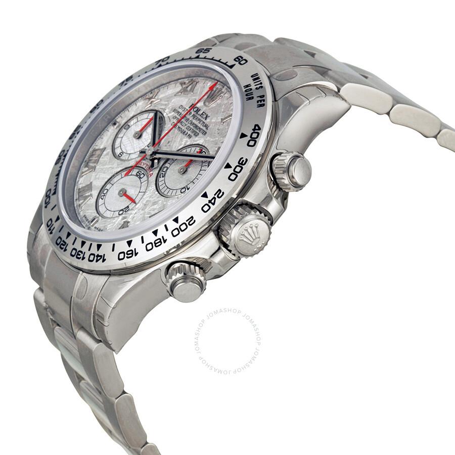 Rolex Cosmograph Daytona Meteorite Dial 18K White Gold Oyster Bracelet  Automatic Men\u0027s Watch 116509MTAO