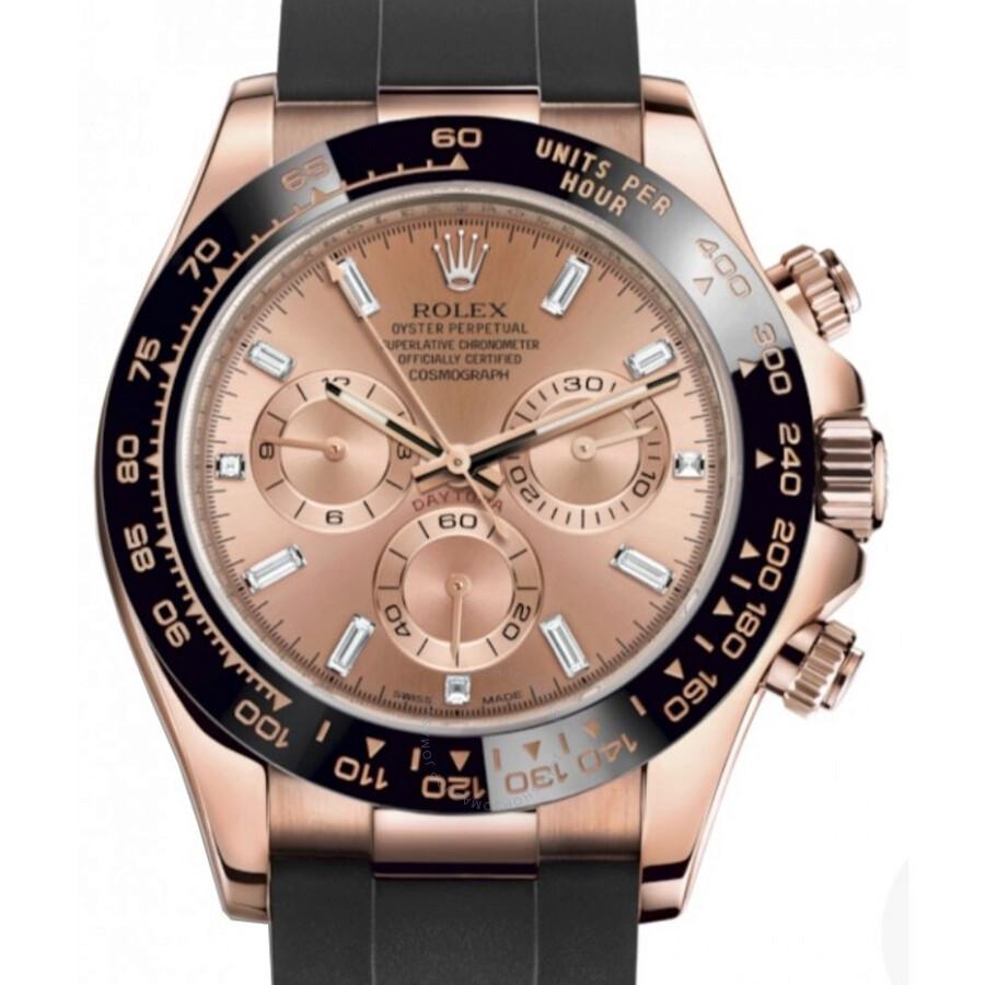 Rolex Cosmograph Daytona Pink Diamond Dial Chronograph Automatic 18 ct  Everose Gold Men\u0027s Watch 116515PDR
