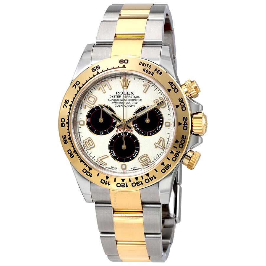Rolex cosmograph daytona stainless steel and 18k yellow gold automatic men 39 s watch 116503ibkao for Rolex cosmograph daytona