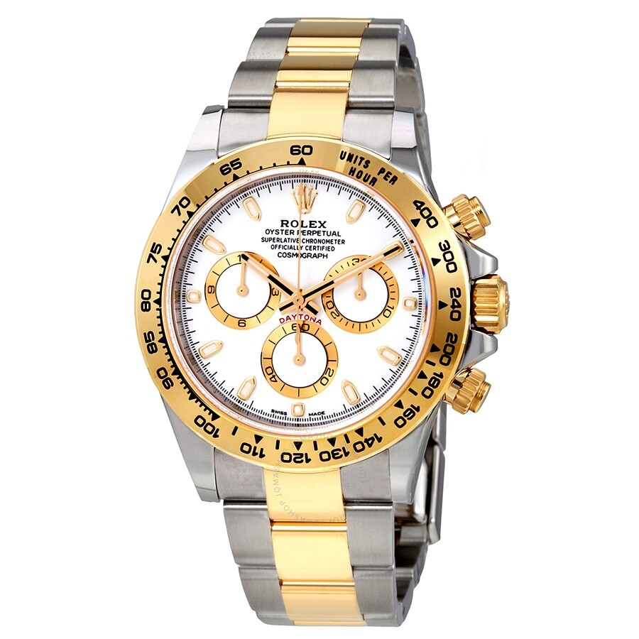 Rolex Cosmograph Daytona White Dial Stainless Steel And 18k Yellow Gold Oyster Bracelet Bracelet Automatic Men S Watch 116503 Wso