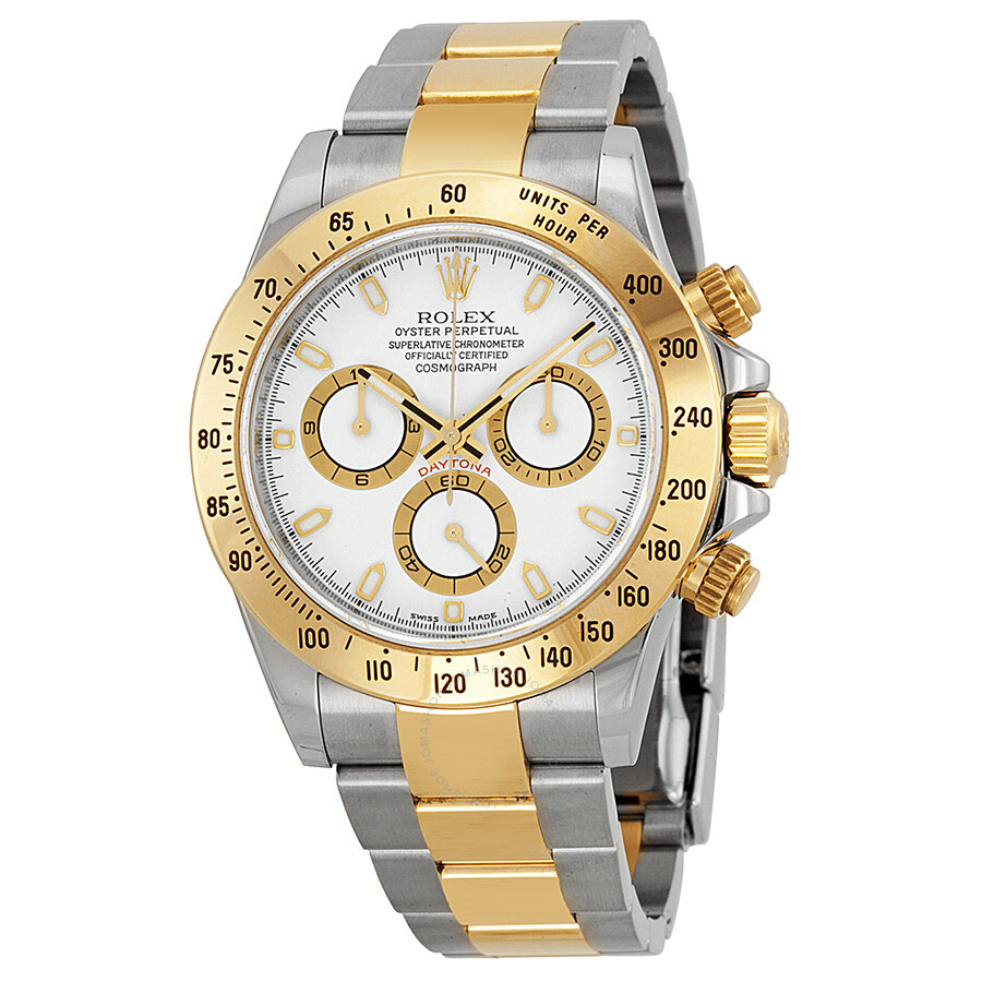 9df670ea04c Rolex Cosmograph Daytona White Dial Stainless Steel and 18K Yellow Gold  Oyster Bracelet Bracelet Automatic Men s