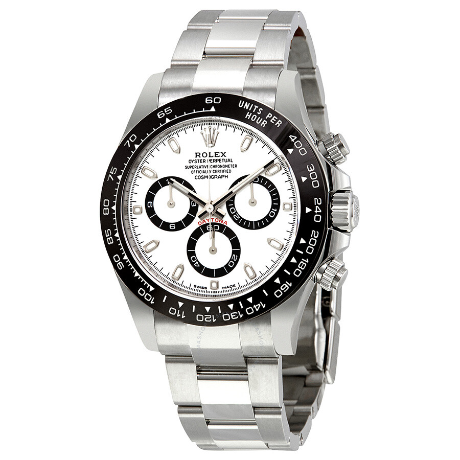 Rolex daytona white face stainless steel
