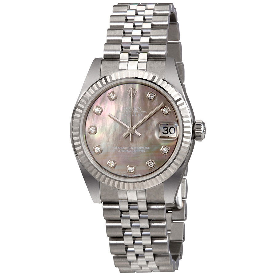 Rolex Datejust 31 Black Mother of Pearl Dial Automatic Ladies Watch  178274BMDJ ... 47e13f6094fb