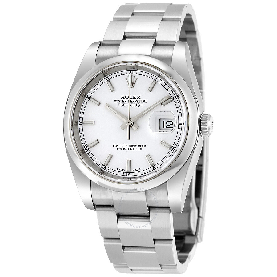 Rolex Datejust 36 Automatic White Dial Stainless Steel Oyster Bracelet  Men\u0027s Watch 116200WSO