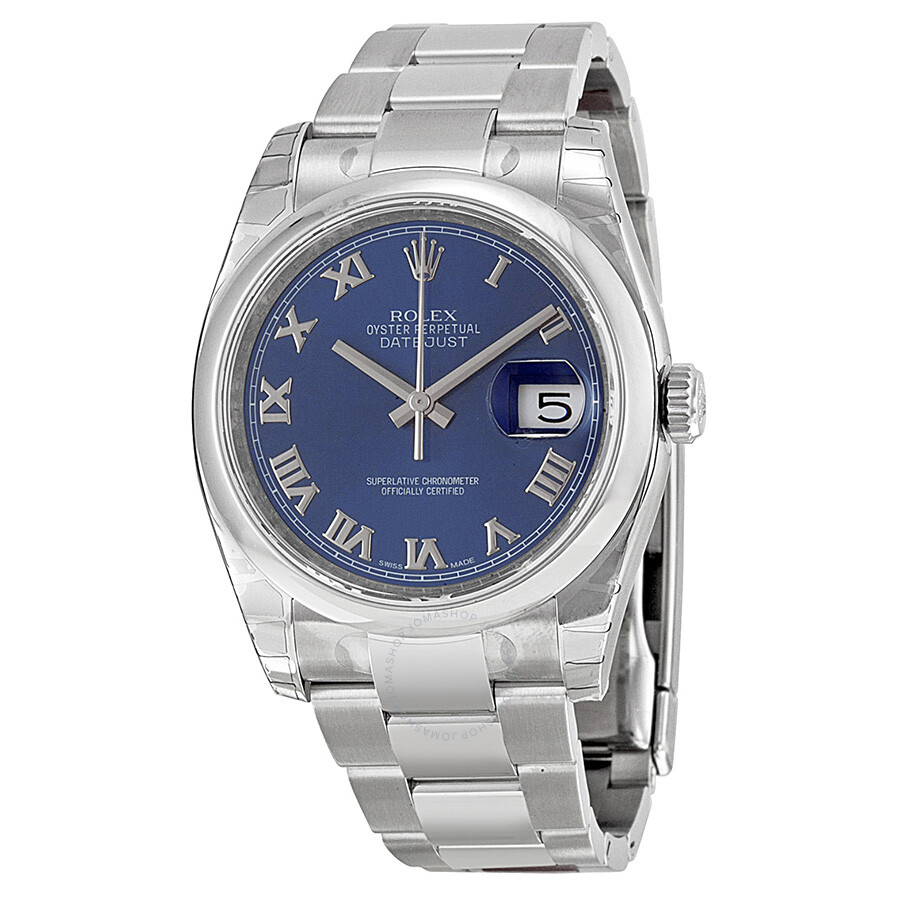 Rolex Datejust 36 Blue Dial Stainless Steel Oyster Bracelet Automatic Men\u0027s  Watch 116200BLRO
