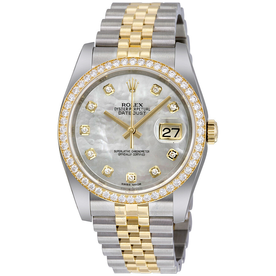 bde31729f94 Rolex Datejust 36 Mother of Pearl Dial Stainless Steel and 18K Yellow Gold  Jubilee Bracelet Automatic ...