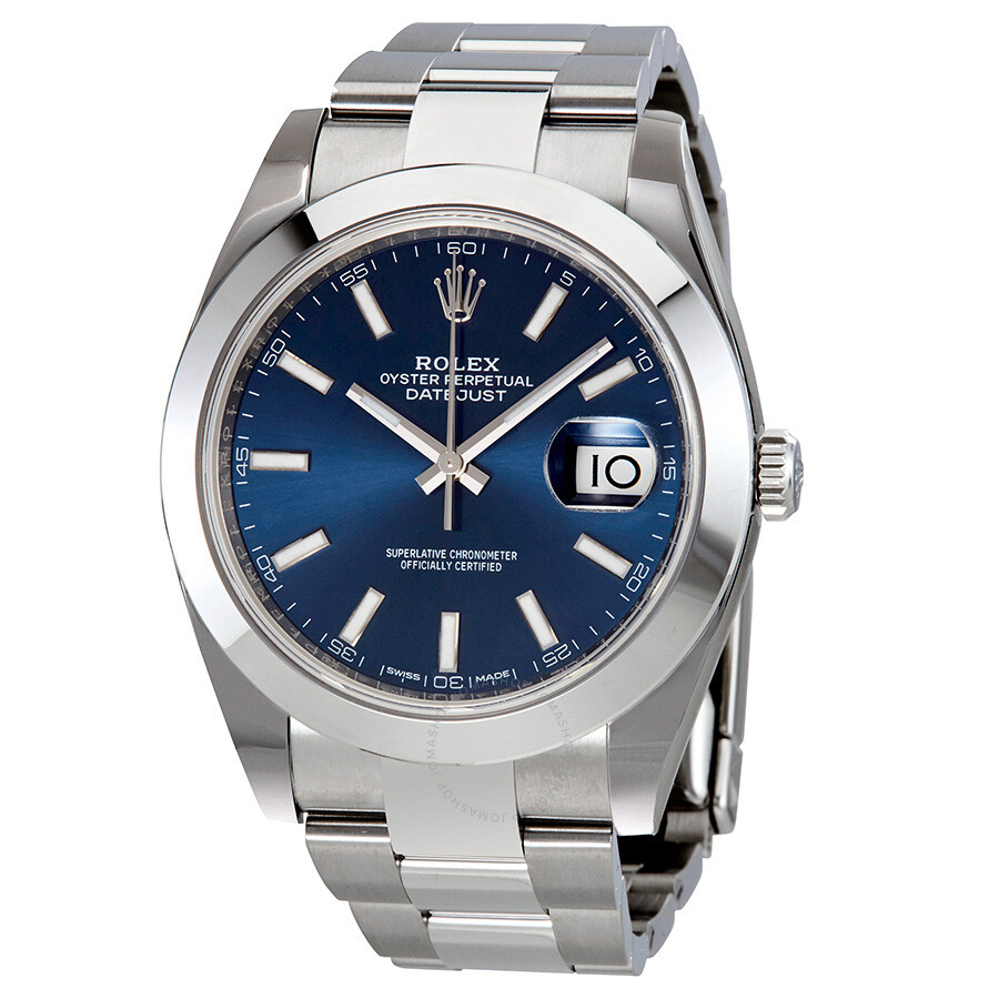 ee69f918e53 Rolex Datejust 41 Blue Dial Stainless Steel Men s Watch