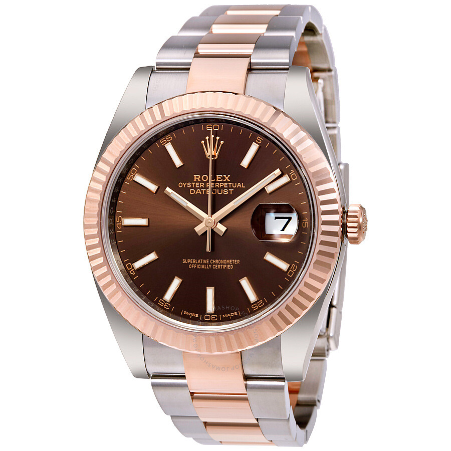 9b8def4de05a8 Rolex Datejust 41 Chocolate Dial Steel and 18K Everose Gold Men's Watch  126331CHSO ...