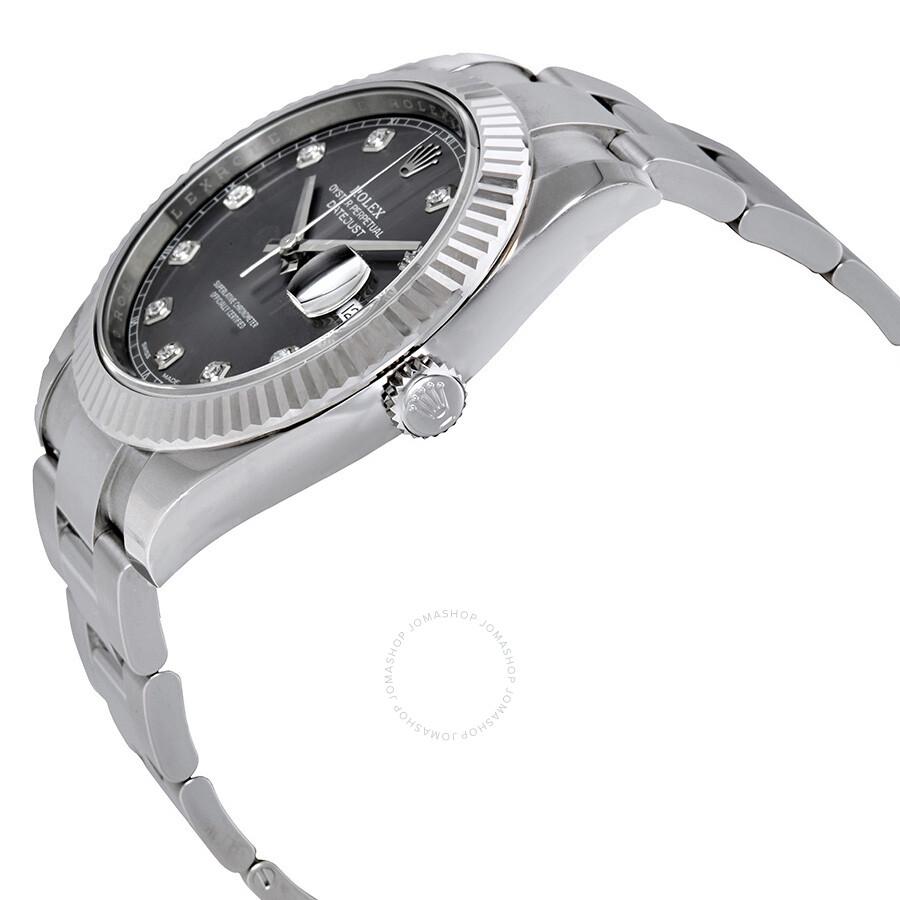 af7c8f1e285 ... Rolex Datejust 41 Rhodium Diamond Dial Automatic Men's Watch 126334RDO  ...