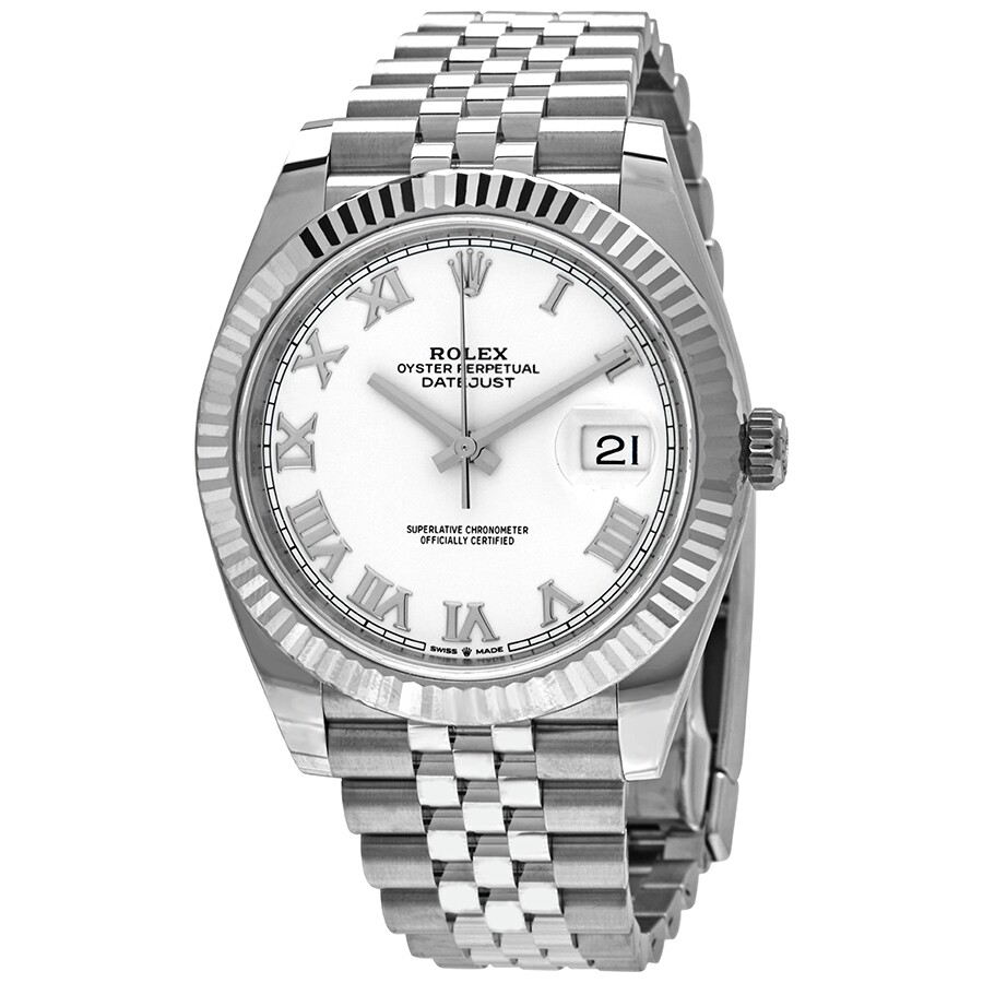 Rolex Datejust 41 White Dial Automatic Men\u0027s Jubilee Watch 126334WRJ