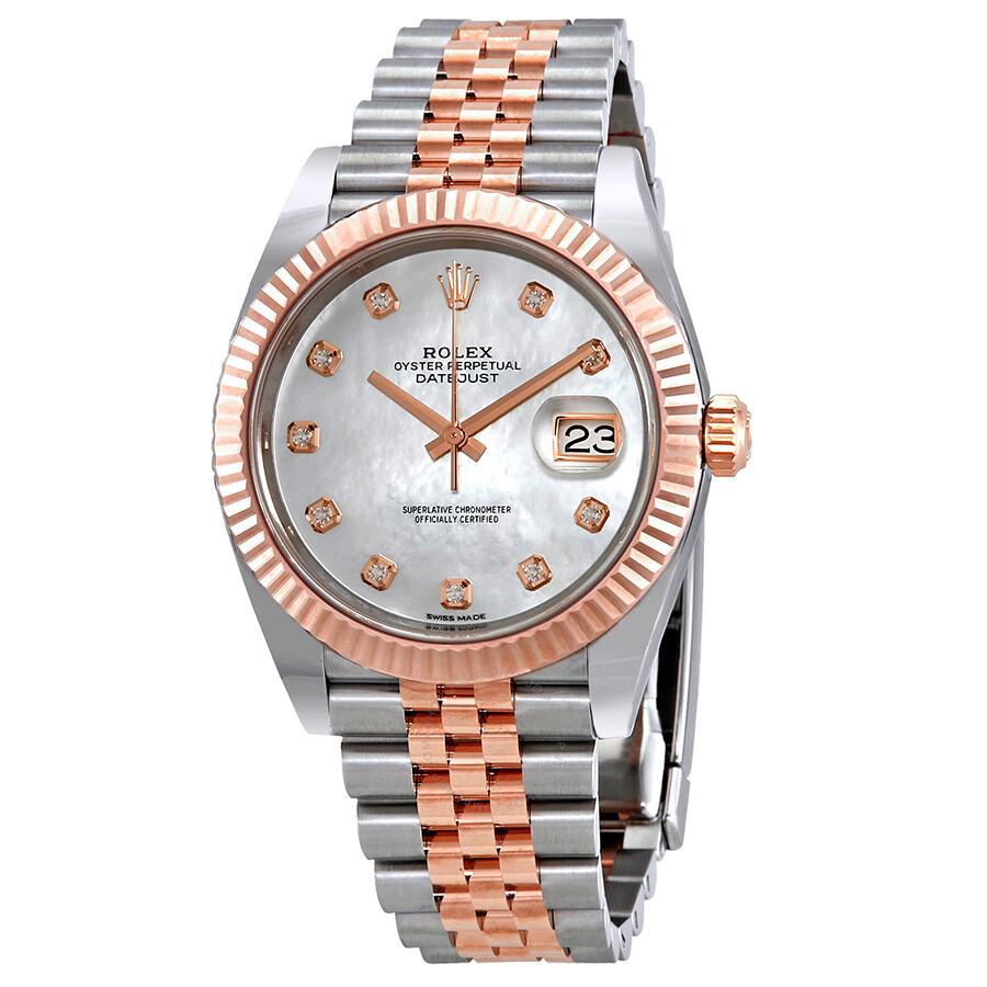 4e1d359d410 Rolex Datejust Automatic Diamond Men s Steel and 18ct Everose Gold Jubilee  Watch 126331MDJ ...