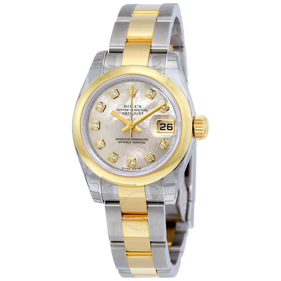rolex datejust automatic stainless steel 18kt yellow gold