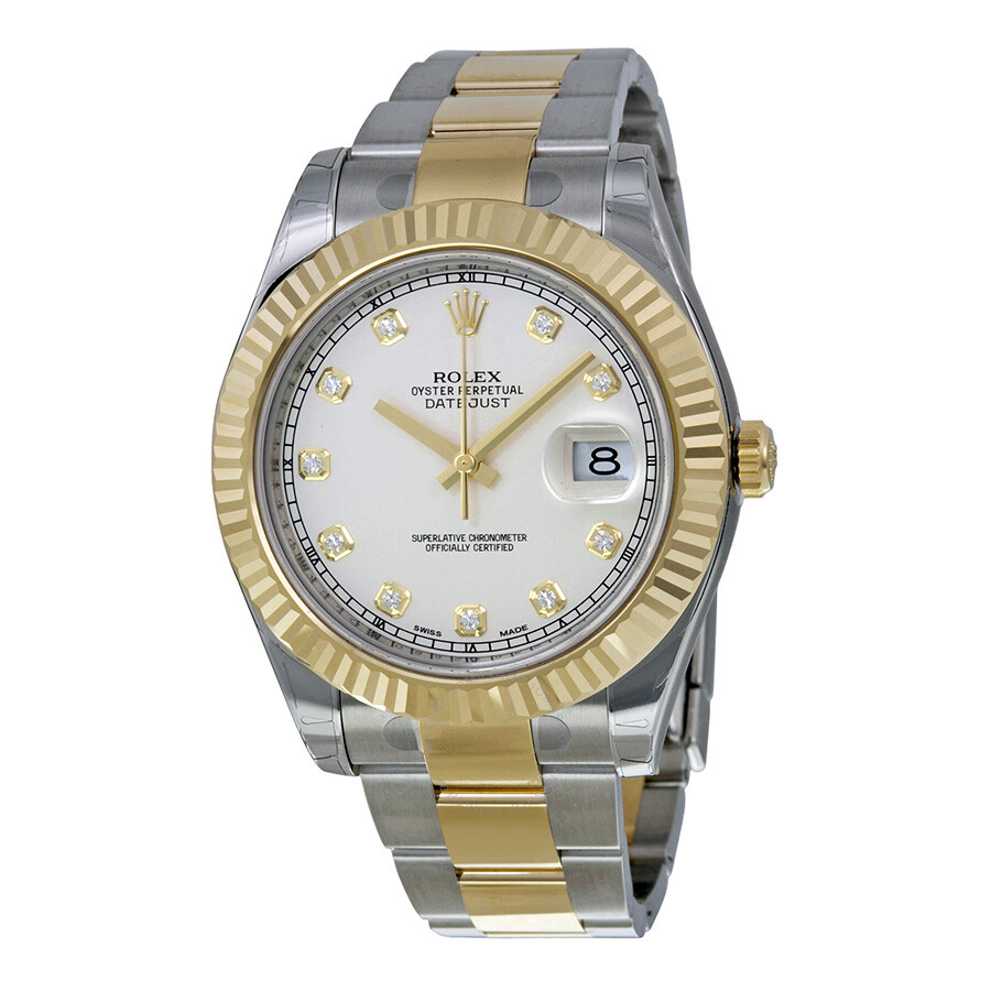 8bc7249267b Rolex Datejust II Automatic Ivory Dial Stainless steel and 18kt Yellow Gold  Oyster Bracelet Men s Watch ...