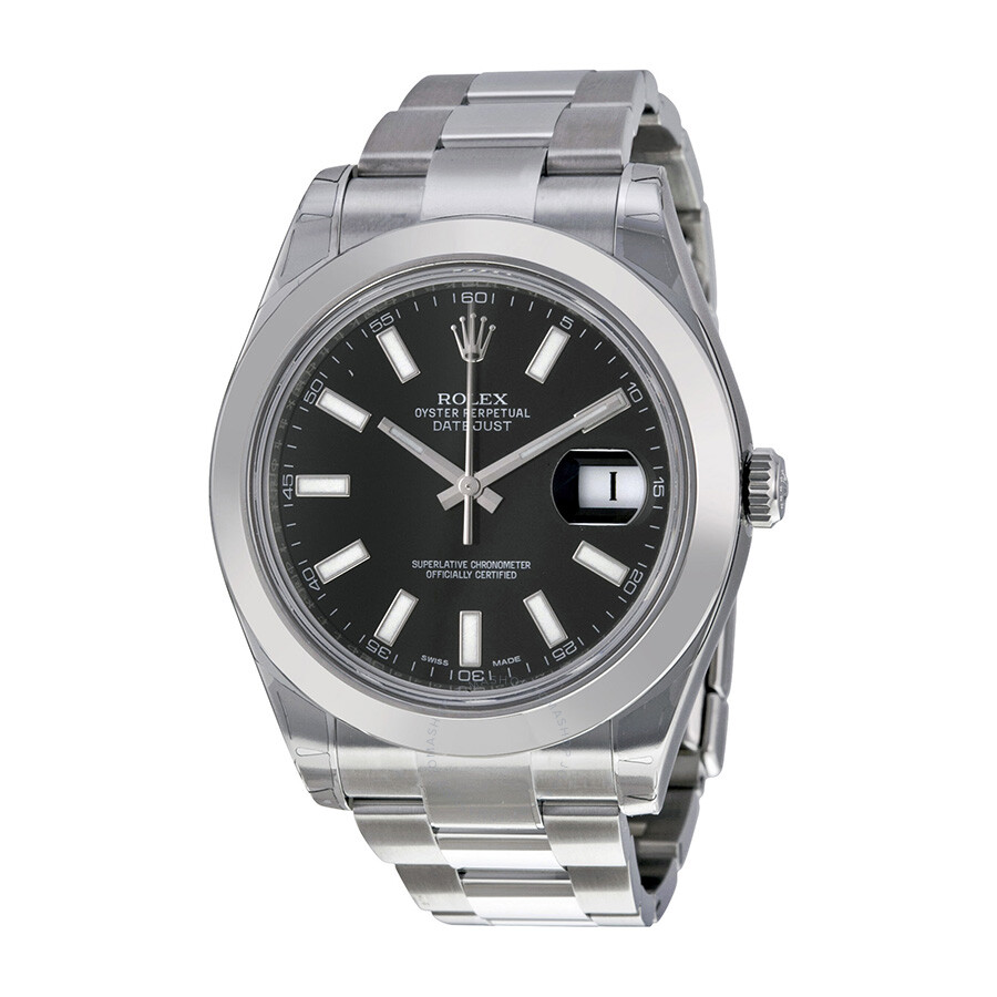 Rolex Datejust II Black Dial Stainless Steel Automatic Men ...