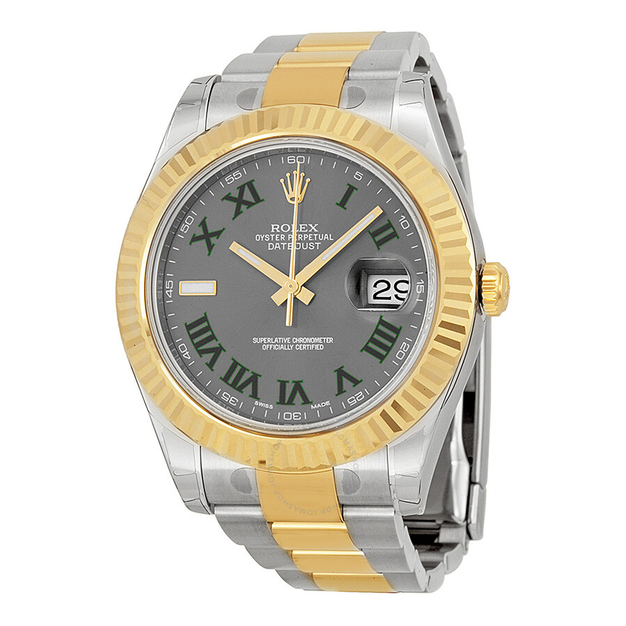 rolex datejust ii grey dial stainless steel and 18k yellow. Black Bedroom Furniture Sets. Home Design Ideas