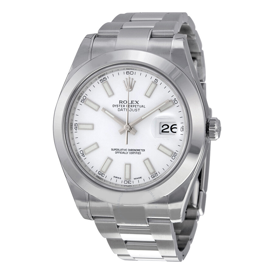Rolex datejust ii white dial stainless steel oyster