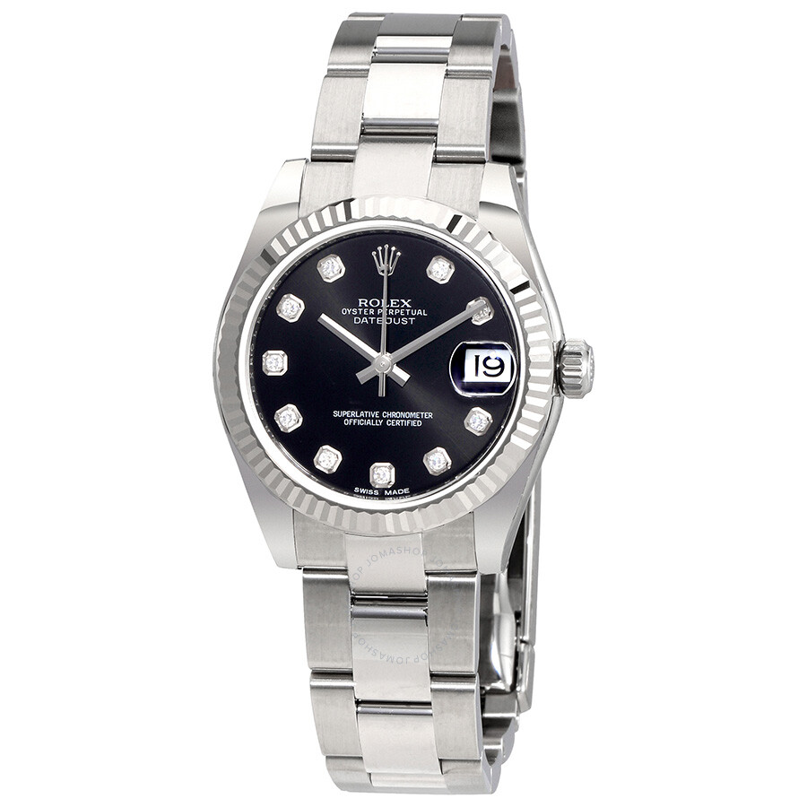 Rolex Datejust Lady 31 Black Dial Stainless Steel Oyster Bracelet Automatic  Watch 178274BKDO ... 64febb09f2