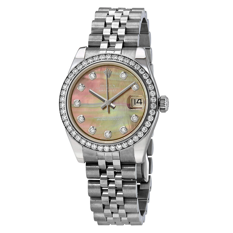 bcf27930f4e Rolex Datejust Lady 31 Black Mother of Pearl Dial Stainless Steel Jubilee  Bracelet Automatic Watch 178384BKMDJ ...