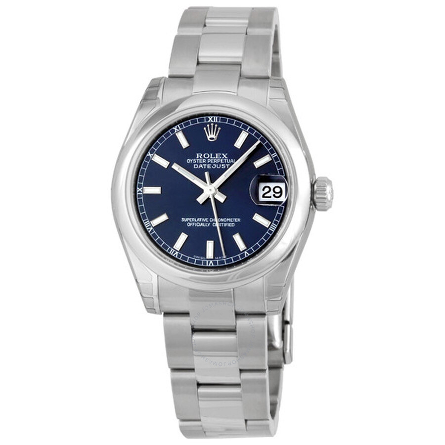 468230f6dca7 Rolex Datejust Lady 31 Blue Dial Stainless Steel Oyster Bracelet Automatic  Watch 178240BLSO ...