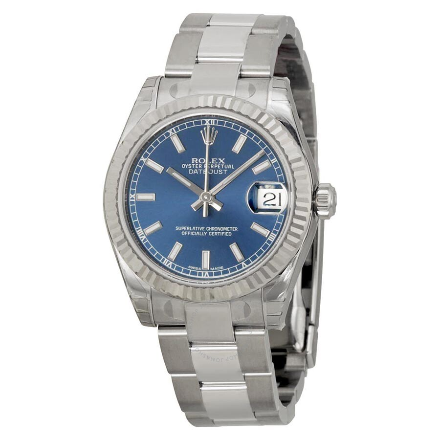 Rolex Datejust Lady 31 Blue Dial Stainless Steel Oyster ...
