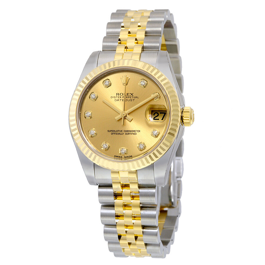 Rolex datejust champagne diamond dial jubilee bracelet unisex watch 178273cdj datejust rolex for Jubilee watch