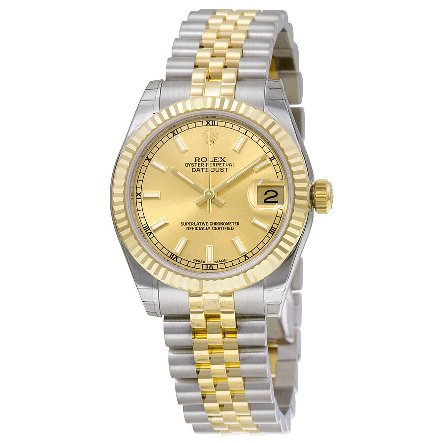 d1201247fb4 Rolex Datejust Lady 31 Champagne Dial Stainless Steel and 18K Yellow Gold  Jubilee Bracelet Automatic Watch ...